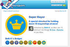 Super Mayor Shoutout on Foursquare