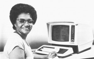 '80s Picture of Lady with Computer