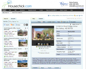 A screenshot of the IDX on housechick.com