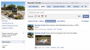 Rancho Verde Community Page on Facebook