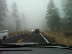Dashboard Photo of Fog