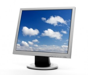 Computer Screen Showing Cloud