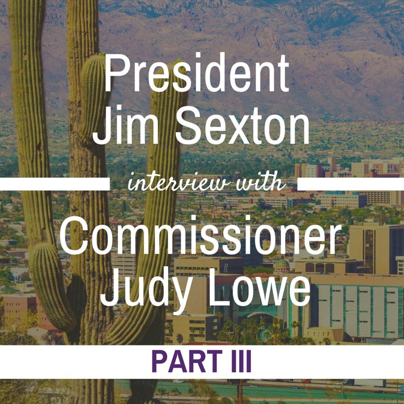 Commissioner Judy Lowe Interview Jim Sexton