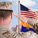 Saluting US-AZ flags