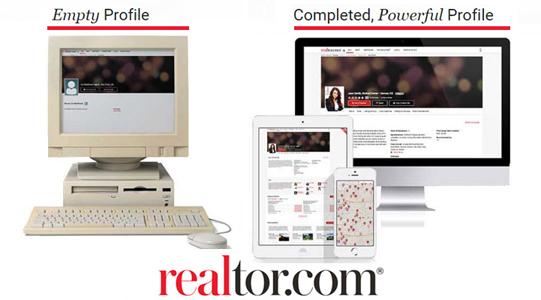 REALTOR.com® empty vs powerful profiles