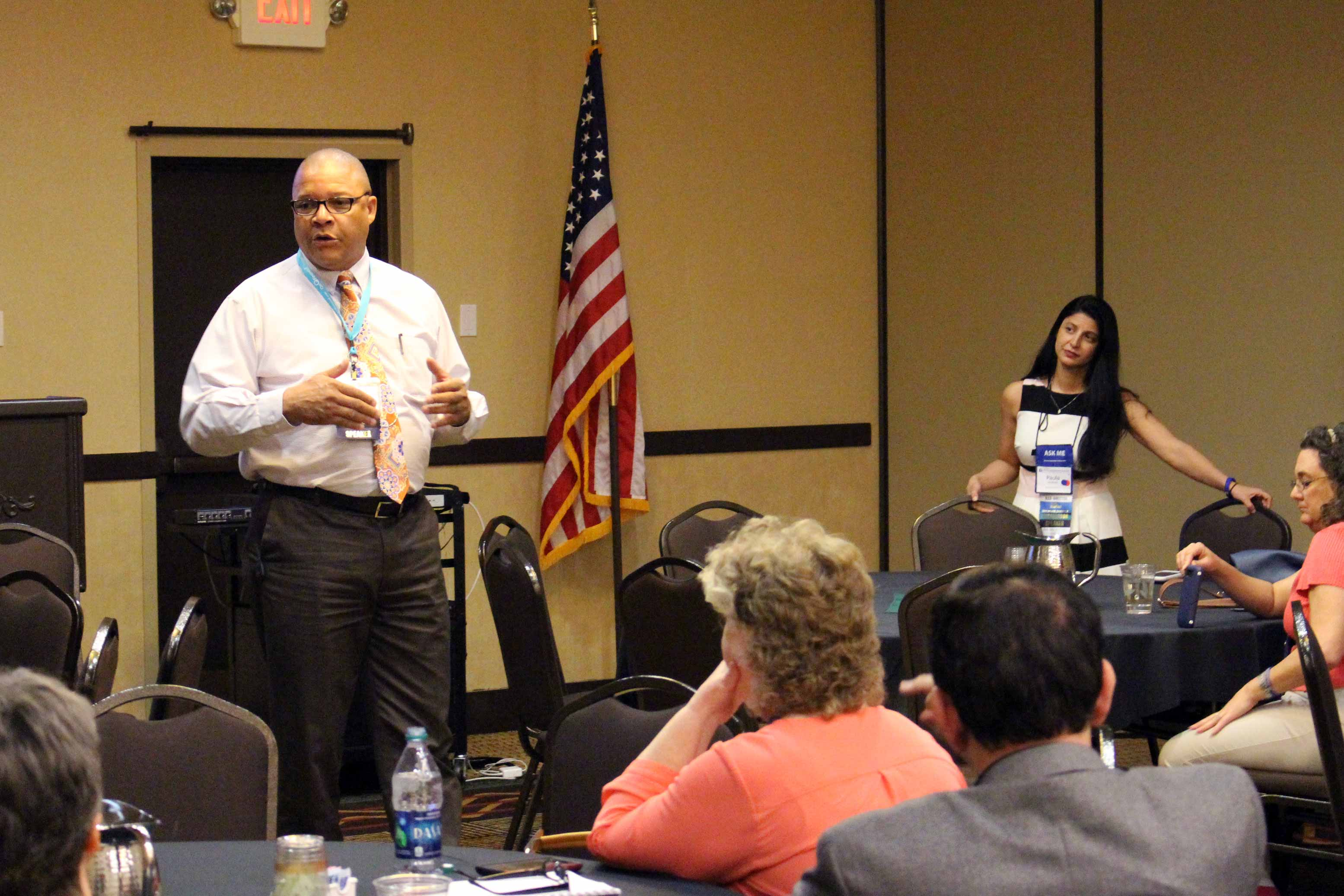 Eric Gibbs, Sr. promotes REALTOR® Safety during the 2016 Spring Conference.