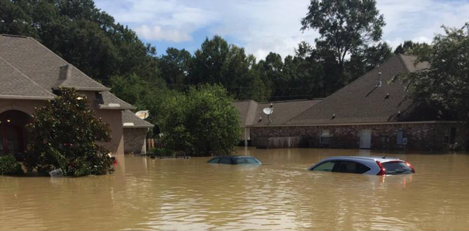 Devastating flooding in Louisiana. Photo: Louisiana Home Builders Association