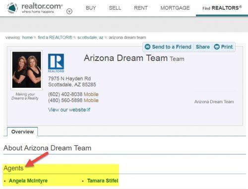 Demo realtor.com team page