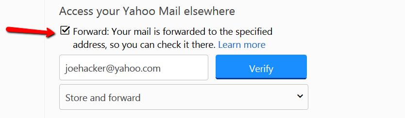 Yahoo auto forwarding 4