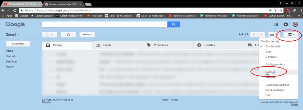 Gmail auto forwarding 1