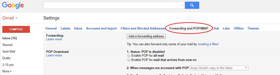 Gmail auto forwarding 2