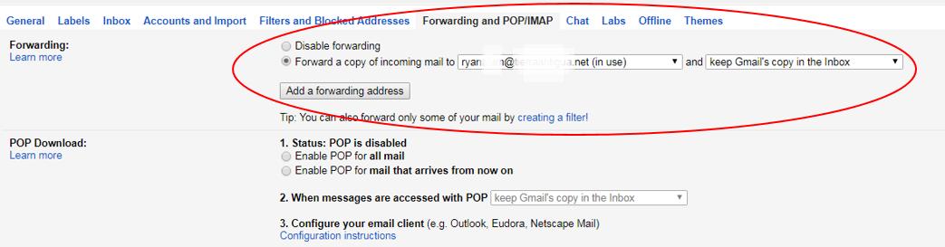 Gmail auto forwarding 4